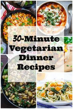 30-Minute Vegetarian Dinner Recipes