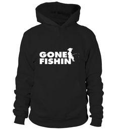 Gone Fishin' (White Print) T-Shirt  #gift #idea #shirt #image #funny #fishingshirt #mother #father #lovefishing