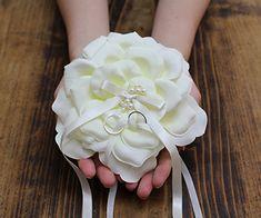 リングピロー〔アイボリーローズ〕手作りキット|まるで本物のお花のよう|結婚式演出の手作りアイテム専門店B.G.