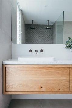 Ideas bathroom renovations ensuite for 2019 Ikea Bathroom Vanity, Zen Bathroom, Bathroom Wallpaper, Bathroom Renos, Bathroom Styling, Bathroom Interior Design, Bathroom Renovations, Bathroom Storage, Modern Bathroom