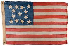 13 Star Flag. Civil War.