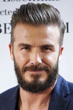 David Beckham Set The Trend For The Beard And Quiff Look, 2015