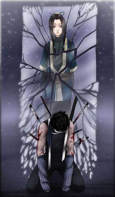 Zabuza and Haku, beautiful fanart. Still one of the saddest moments in Naruto and Naruto Shippuden Naruto Shippuden Sasuke, Naruto Kakashi, Anime Naruto, Naruto Shippudden, Boruto, Manga Anime, Otaku Anime, Naruto Crying, Naruto Eyes