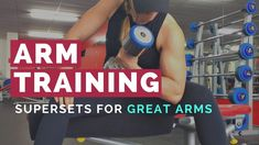 Arms Training - Bicep and Tricep Superset. This is how to train away those wobbly bits and get great looking arms! Full Upper Body Workout, Biceps And Triceps, Workout Videos, Fun Workouts, Fit Women, Arms, Training, Exercise, Female