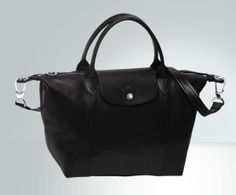 Fashion LongChamp Sac Le Pliage Cuir Nior online hot sale,fast shipping!!
