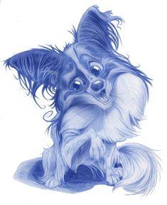 Animal Caricature No. Anime Animals, Funny Animals, Pappillon Dog, Cartoon Sketches, Ap Art, Disney Fan Art, Animal Drawings, Lion Sculpture, Creations
