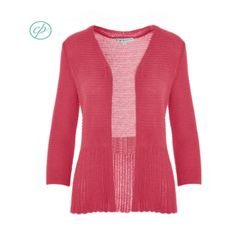 Mixed stitch and a pop of colourful coral, this open petite cardigan is feminine and comfortable, perfect for the office or weekends! Summer Office, Office Essentials, Work Wear, Coral, Feminine, Chic, Sleeves, Sweaters, How To Wear
