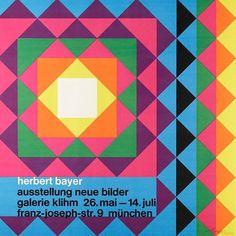 Herbert Bayer, exhibition poster, 1967