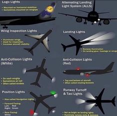 Various types of lights of an aircraft ! Aviation Quotes, Aviation Humor, Aviation Training, Pilot Training, Pilot Quotes, Airport Design, Airplane Pilot, Aircraft Maintenance, Airplane Photography