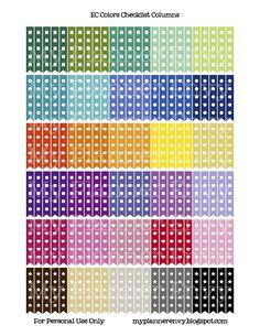 FREE PLANNER STICKERS  Checklist Columns Stickers | My Planner Envy