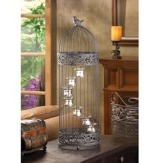 Black Large Lantern Birdcage Candleholder Wedding Centerpiece #Unbranded