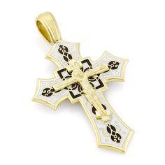 Крест нательный с эмалью КРЗЭ0702…