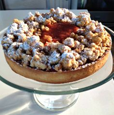 Madeline Delosh creates a strawberry rhubarb tart that's perfect with buttermilk ice cream. | Rural Intelligence