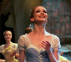 Evgenia Obraztsova as Giselle in Act 1 of the Bolshoi Ballet's Giselle. Photo by Yekaterina Vladimirova