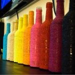 things to do with used glass bottles - like if you drink a lot of wine or beer