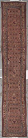 Serab runner  Northwest Persia,  circa 1900  size approximately 2ft. 7in.x 11ft. 2in.
