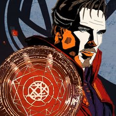 Doctor strange, marvel, Benedict Cumberbatch, artwork, illustration