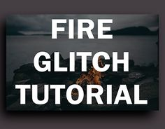 Fire Glitch tutorial: How i work in my illustrations.