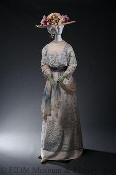 Fripperies and Fobs Afternoon dress ca. 1908  From the Helen Larson Historic Fashion Collection at the FIDM Museum