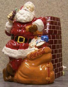 Santa & Coca Cola Cookie jar