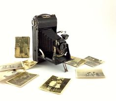 Vintage Camera Voigtländer Braunschweig folding camera by Lambater