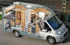 Van Conversion Interior, Camper Van Conversion Diy, Van Interior, Sprinter Van Conversion, Kitchen Interior, Truck Camper, Kombi Motorhome, Small Camping Trailer, Kombi Home