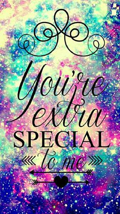 You're special galaxy wallpaper I created for the app CocoPPa.