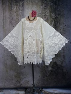 Angel Wing Hippie Boho Gypsy Fairy Lace Dress Tunic by LaineeLee