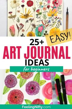 Feeling Nifty Get ready to be inspired with these brilliant art journal ideas. From art journal techniques, cover ideas and art journal supplies- you'll learn it all! Art Journal Prompts, Art Journal Techniques, Art Journal Pages, Art Journals, Art Journal Covers, Art Journal Backgrounds, Writing Prompts, Kunstjournal Inspiration, Art Journal Inspiration