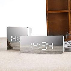 862834b3177 LED Mirror Digital Alarm Snooze Clock. Relógio De MesaDespertador ...