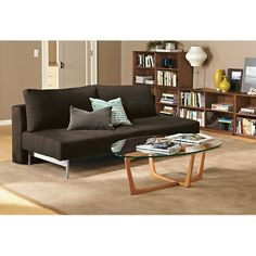 "Room & Board - Elke 79"" Armless Convertible Sleeper Sofa, brown on sale for $699"