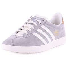 adidas Gazelle Og Womens Suede Trainers Grey White 9.5 US adidas http://www
