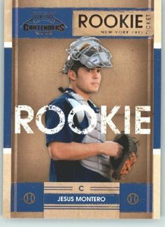 2008 Playoff Contenders Baseball Rookie Ticket # 29 Jesus Montero (RC - Rookie Card - Prospect) New York Yankees - MLB Trading Card Shipped In Protective Screwdown Display Case! by Donruss. $12.95. 2008 Playoff Contenders Baseball Rookie Ticket # 29 Jesus Montero (RC - Rookie Card - Prospect) New York Yankees - MLB Trading Card Shipped In Protective Screwdown Display Case!