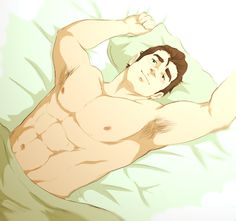 I pinned a shirtless Mako pic earlier. It's only fair I pin a shirtless Bolin pic too. You're welcome