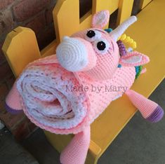 ZOE the Unicorn, Horse or Zebra blanket buddy pattern