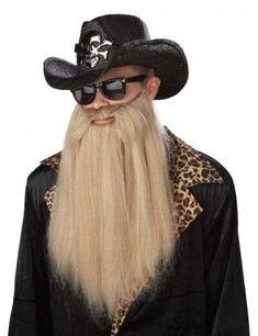 Sharp Dressed Man Beard ZZ Top Long Duck Dynasty Biker Rocker Blonde for sale online Beard Accessories, Fancy Dress Accessories, Costume Accessories, Fake Beards, Long Beards, Costume Wigs, Zz Top Beard, Rock And Roll Costume, Moustaches