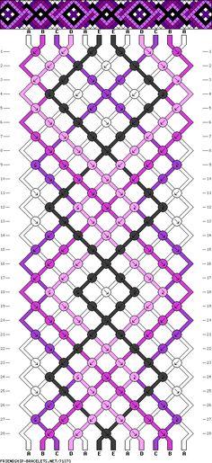 Muster # 71373, Streicher: 12 Zeilen: 28 Farben: 5