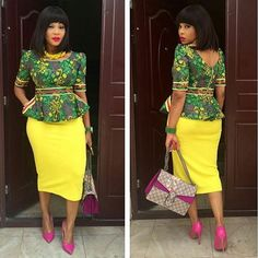 2018 Trendy Ankara Styles To Hit The Market This Ember Month - WearitAfrica African Tops For Women, African Dresses For Women, African Wear, African Attire, African Style, African Print Peplum Top, Ankara Peplum Tops, African Print Dresses, African Prints