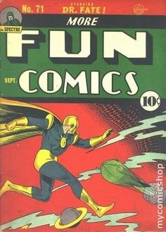 MORE FUN COMICS 71, DR. FATE, GOLDEN AGE DC COMICS