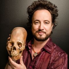 """Ancient aliens 201887995783996608 - Ancient astronaut theorist and contributing producer to """"Ancient Aliens"""" Giorgio A. Tsoukalos (Courtesy Legendary Times Media/Photo by Shawn Bishop) Source by elfredo Ancient Aliens, Aliens And Ufos, Ancient Egyptian Art, Ancient History, Ancient Greece, Aliens Guy, Aliens Meme, Ancient Mysteries, Ancient Artifacts"""