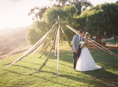 A different take on a wedding arch