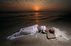 The shot: Red Sky Mermaid. Photographer: GW Burns; Model: Eleazia Korbel; Hair and Makeup: TJ & Carrianna Hutchinson