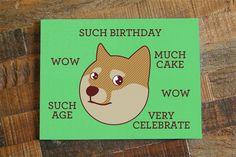 Such Birthday! – Funny Shibe Doge Birthday Card