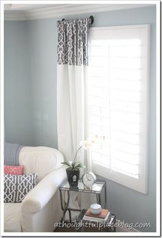 Courtney from A Thought Place gets crafty with her Strada panels creating unique drapes and a pillow.