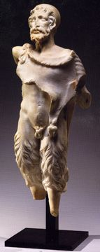 Pan, marble, Roman Imperial, 1st/early 2nd Century A.D., 23 ¾ inches high