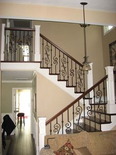 Baluster | ... | Staircase Remodel | Custom Stairs | Iron Baluster | Wood Baluster