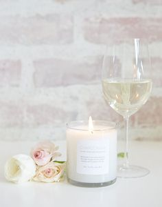 this soy blend chardonnay candle is (almost) better than a glass of the real thing!