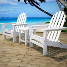 POLYWOOD™ Classic Folding Adirondack Chair Enjoy comfort and relaxation in the deep contoured seat of our classic Adirondack chair. - Made from recycled HDPE plastic - Durable construction - Won't rot