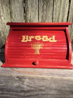 Excited to share this item from my shop: bread box red distressed with wheat and yellow lettering hand painted on the front country farmhouse design customizable to match your home Wooden Bread Box, Vintage Bread Boxes, Farmhouse Design, Country Farmhouse, Coca Cola Decor, Mexican Bread, Color Harmony, Love To Shop, Custom Boxes