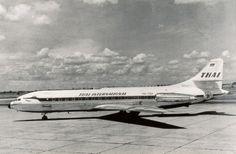 1960's Thai International Sud-Aviation Caravelle.